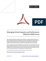 VMworld Survey on Capacity and Performance Management, October 2008