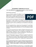 Ley Autonomica Municipal 017 (2013) Contro Social