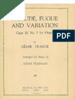 Franck Cesar Prelude Fugue Et Variation Op.18 3. Arr. Pno Ignaz Friedman