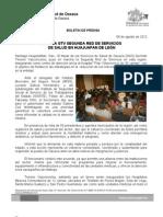 9/08/12 Germán Tenorio Vasconcelos INSTALA SEGUNDA RED DE SERVICIOS DE SALUD EN HUAJUAPAN DE LEÓN