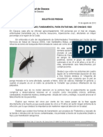 10/08/12 Germán Tenorio Vasconcelos limpieza en El Hogar, Fundamental Para Evitar Mal de Chagas, Sso