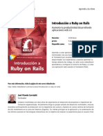 Introduccion a Ruby on Rails