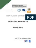 Sintesis Del Tema 1.5.- Cesar Toledo Sarabia 1