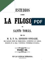 Estudios Sobre La Filosofia de Santo Tomas-Tomo III
