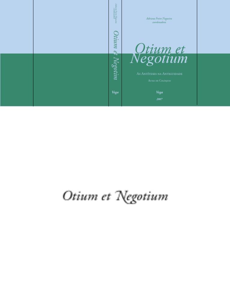 Otium Et Negotium As Antiteses Na Antiguidade   PDF   Império ...