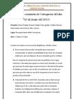 Acta de la comisión de Catequesis del día 10 de Junio del 2013