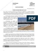 05/08/12 Germán Tenorio Vasconcelos mantiene Sso Monitoreo de Playas