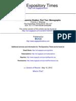 Moloney F.J.- Recent Johannine Studies. Part Two, Monographs (Exposit Tim 2012)