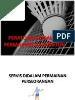 Peraturan Badminton