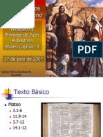 29 Ministerio y Mensaje de Juan El Bautista