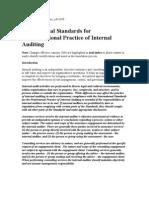 IIA Standard for Internal Auditors