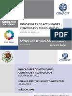 Indicadores de Actividades Cientificas y Tecnologicas 2008