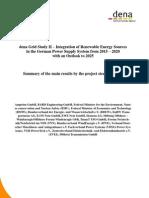 Summary Dena Grid Study II