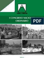 IDEARIO Y PRINCIPIOS DE TIERRA Y LIBERTAD.  Propuesta oficial de la Comisión Política Nacional para el I Congreso Nacional Ordinario 2013