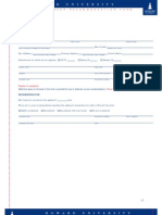Teacher Professor Recommendation Form