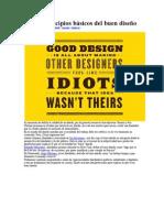 Los 10 principios básicos del buen diseño