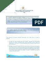 Guía para Aprobación, Revisión y Entrega de PEI