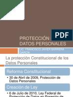 Protección de datos personales.FB