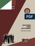C&E GO TC N°5 Mar 12 Guía de títulos valores para contadores