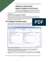 Console Language Translation