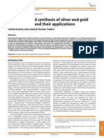 Plant-Mediated Synthesis of Silver and Gold