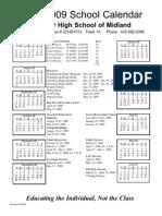 Midland 08-09 Calendar