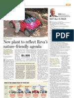 New plant to reflect Reva's naturefriendly agenda