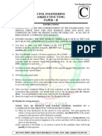 IES 2012 Exam Civil Engineering Paper II Solved With Answer Key