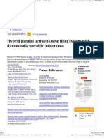 Hybrid Active_passiver Filter System US Patent 5757099