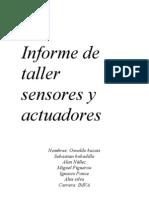 Informe de Taller Sensores y Actuadores