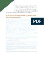 Email sobre la influenza porcina y respuesta.
