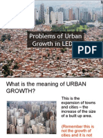 Problems of Urban Growth