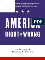 America Right or Wrong an Anatomy of American Nationalism 2005