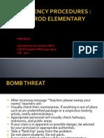 emergency procedures 2013-2014
