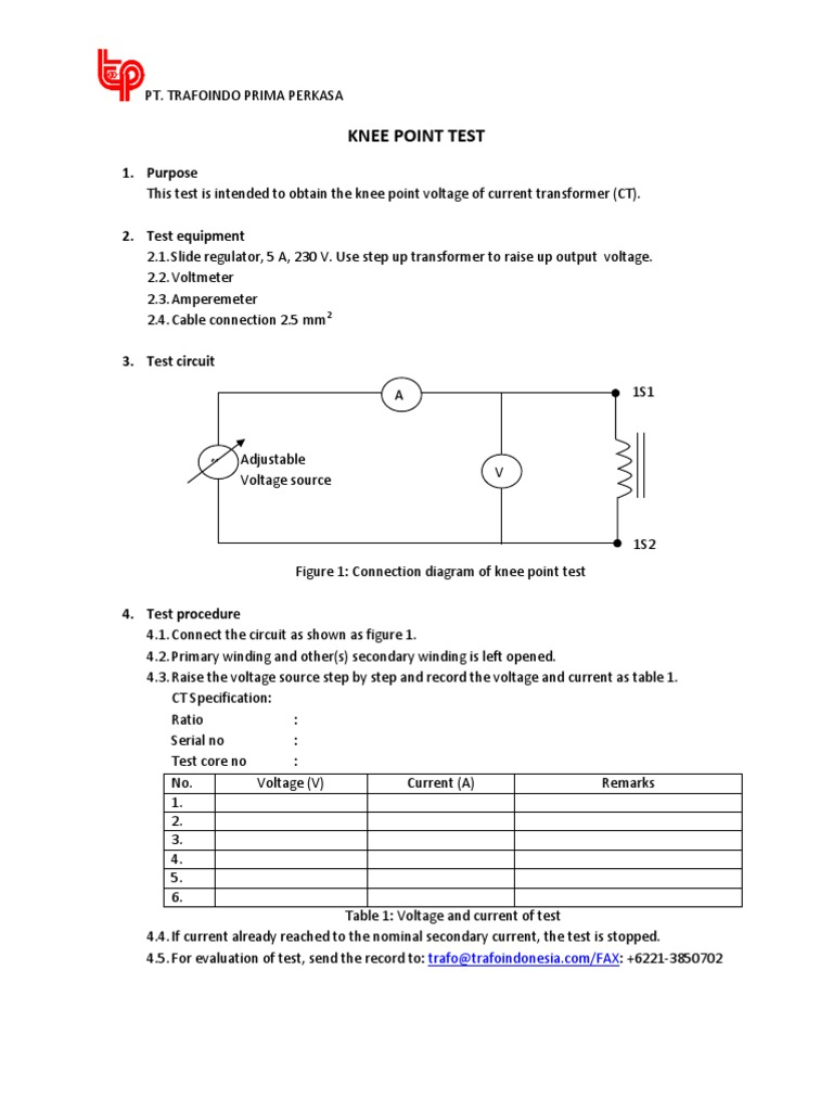 Knee Point Primary Current Injection Test Variable Voltage Autotransformer Wiring Diagram Image