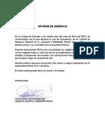 Informe de Gerencia Funeraria Rojas