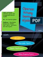 Presentation 1 power point operasi bilangan bulat