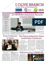 "Olive Branch Model United Nations Newsletter (June 2013) - ""jrO-MUN Revolutionizes Security Council Debate"""