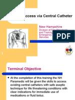 Vascular Access via Central Catheter Educational Module