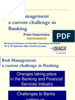 Risk Management a Current Challenge  in Banking - Presentation