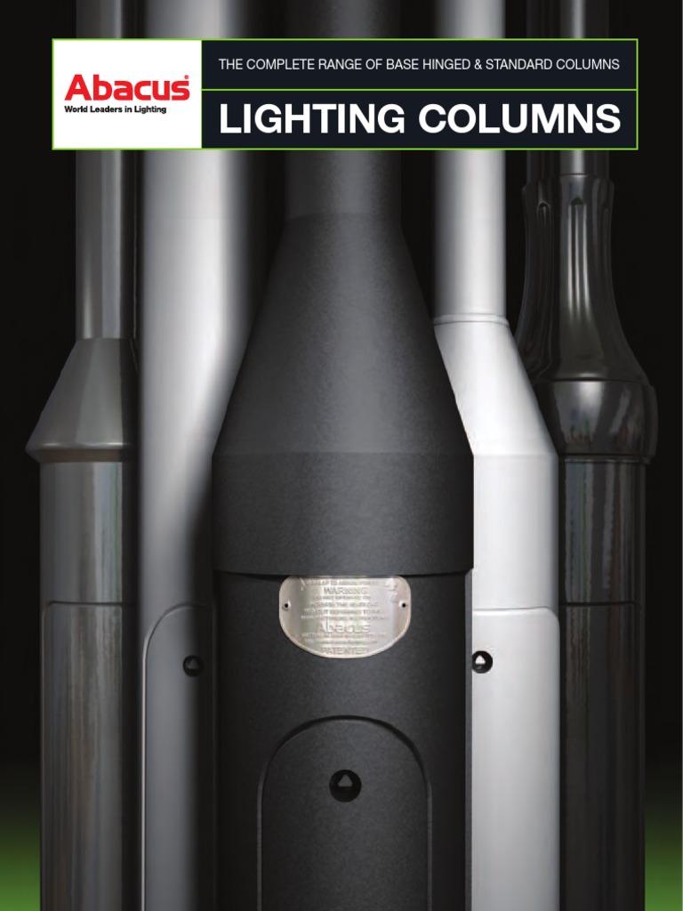 6M Tubular steel root mounted galvanised street lighting columns