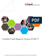 Certified Credit Research Analyst