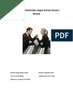Diferencias Dialectales Según Estrato Social y Género