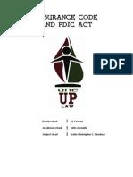 UP Insurance Code+PDIC Act