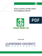 Loan and Advance Activities of Uttara Bank Ltd, Moghbazar Branch, Dhaka