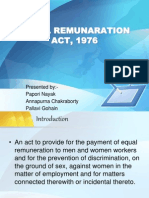 Equal Remuneration Act