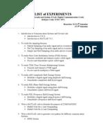 List of Experiments Sem 5