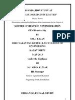 Organisation Study at Kancor(1)