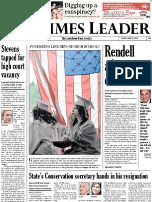 Times Leader 06-14-2013 | Audiology | Bashar Al Assad