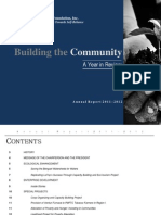 jaime V. Ongpin Foundation, Inc. Annual Report FY2011-12
